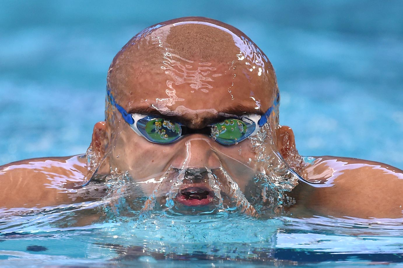 Ahmed Hamdy Salem Hamdy of Egypt competes in the 400m individual medley at the 16th FINA World Championships.