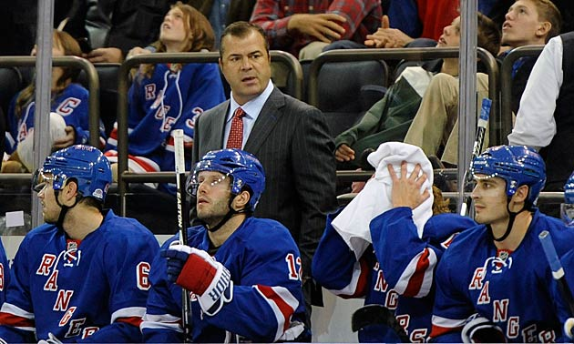 Coach Alain Vigneault has been vexed by the Rangers' inconsistency.
