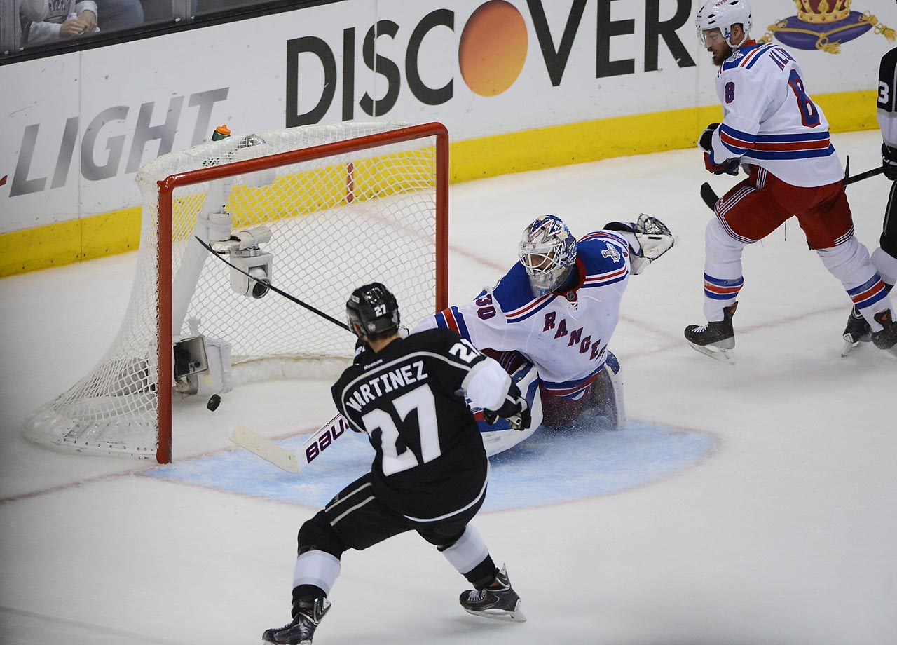 The Los Angeles Kings defeated the New York Rangers in 5 games, culminated by a double OT goal by Alec Martinez, to clinch the series for the Kings at home.