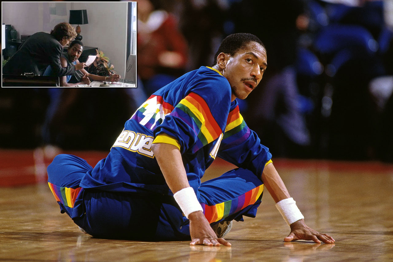 "The Denver Nuggets star played Amazing Grace Smith, a fictional Boston Celtics player, in the 1987 film ""Amazing Grace and Chuck,"" in which English's character takes up the cause of a 12-year-old boy who refuses to play little league baseball until nuclear weapons are disarmed. Jamie Lee Curtis (inset) played the role of Smith's agent in the movie, with a cameo by Gregory Peck as President of the United States."