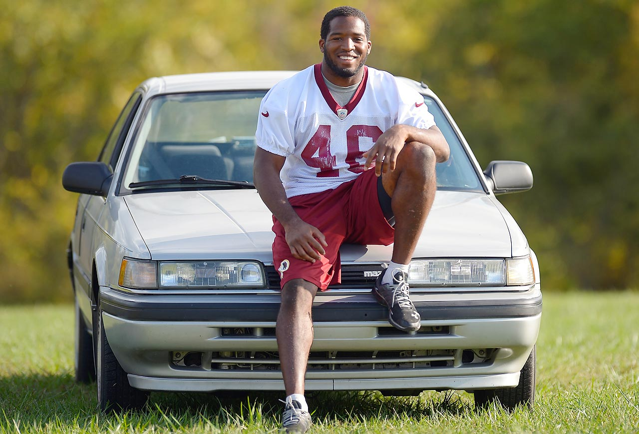 Alfred Morris may have run for 1,613 yards his rookie season and helped propel the Redskins into the playoffs with his 200-yard, three touchdown performance against the Cowboys in Week 17, but the fame hadn't gone to his head. The running back still drove a 1991 Mazda 626 (which he named Bentley) that off-season.