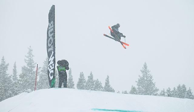 Andi Ragettli in the men's skin slopestyle finals.