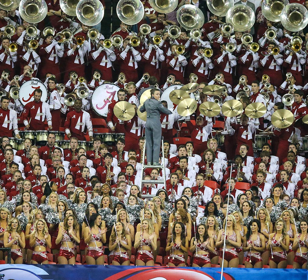 The Alabama Crimson Tide Million Dollar band at the SEC Championship game.