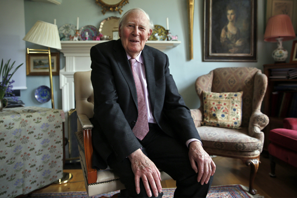Roger Bannister, 60 years after becoming the first man to run a mile under four minutes.