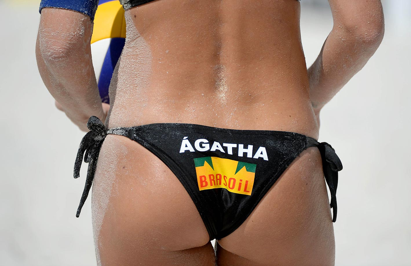 A detail shot of Agatha Bednarczuk of Brazil.