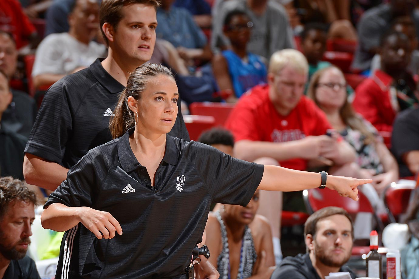 hammon guys This might be the nba's summer league but becky hammon has been beating  the men here and beating them good the san antonio spurs'.