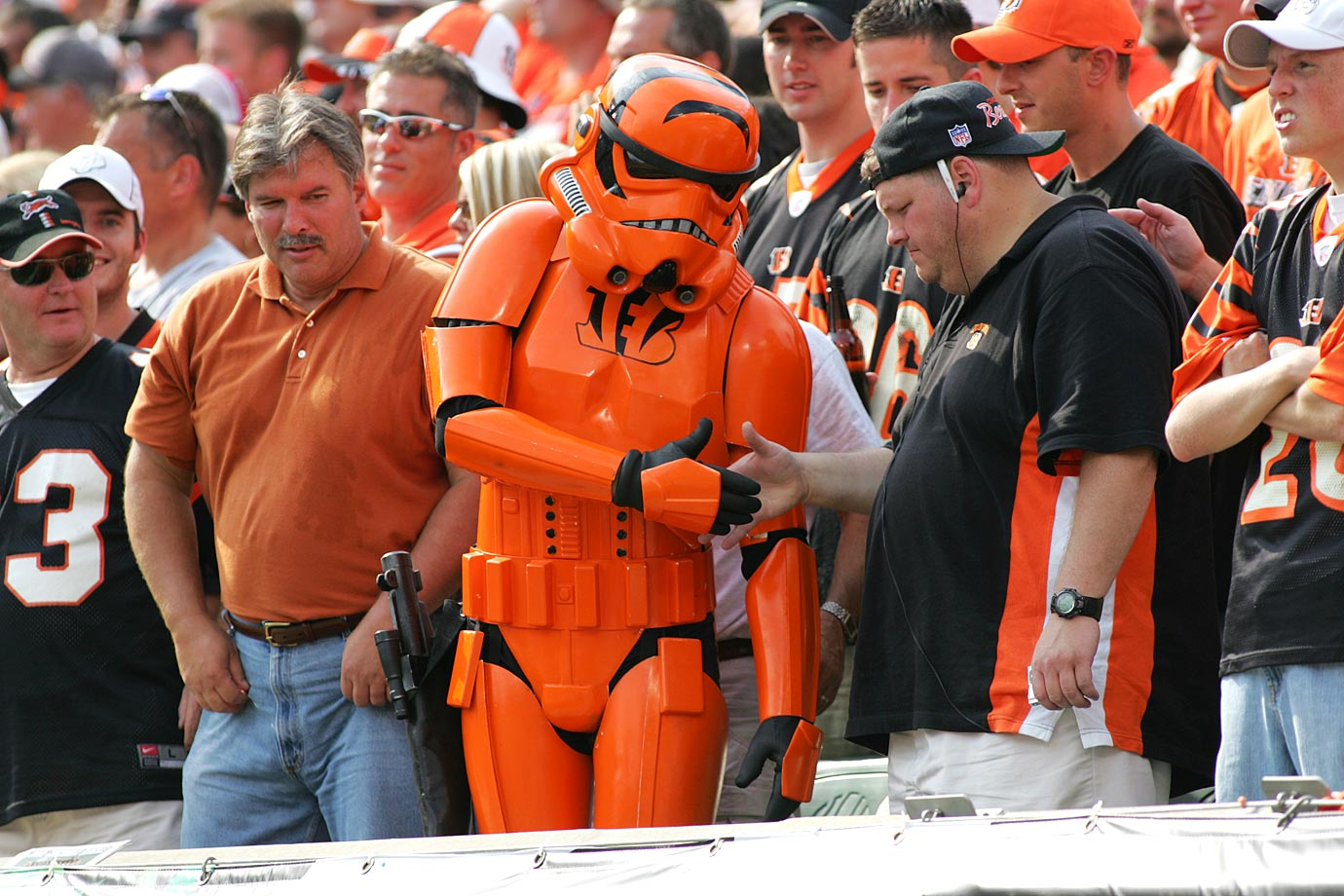 A Cincinnati Bengals fan dresses as a stormtrooper during the Bengals game against the Houston Texans on Oct. 2, 2005 at Paul Brown Stadium in Cincinnati.