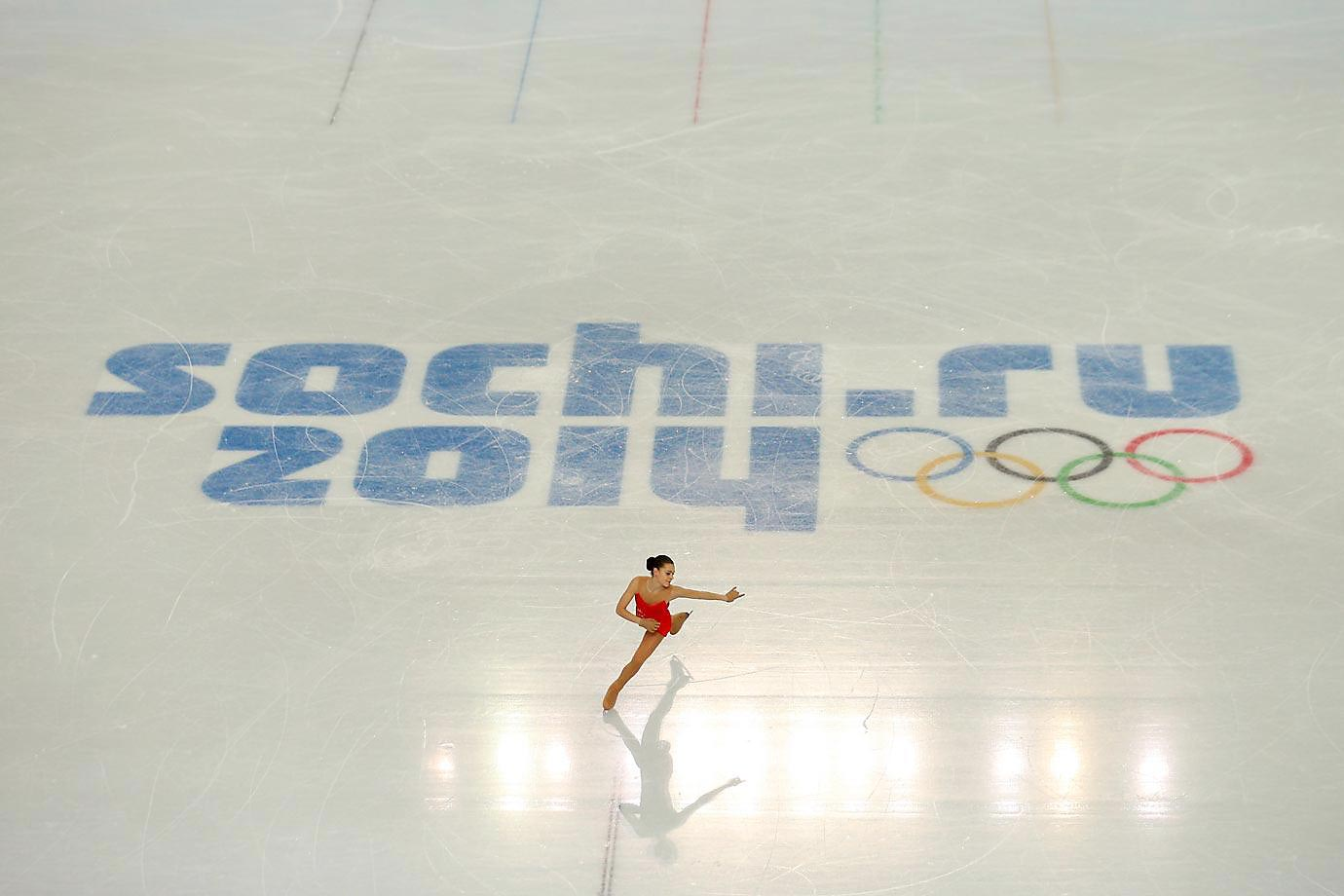 Adelina Sotnikova of Russia during the short program at the Sochi Olympics.