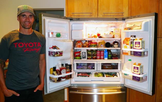 Inside BMX rider Jamie Bestwick's fridge.