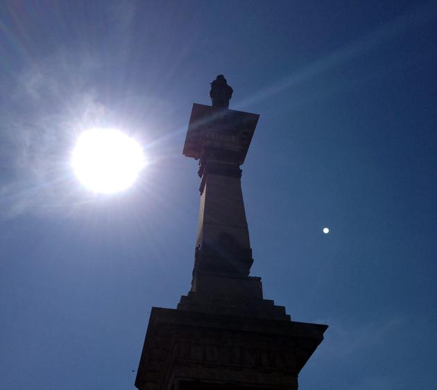 A statue of Joaquim Jose da Silva Xavier, known as Tiradentes, or, the dentist. Tiradentes was a leader in the Inconfidencia movement back in the 1700s.