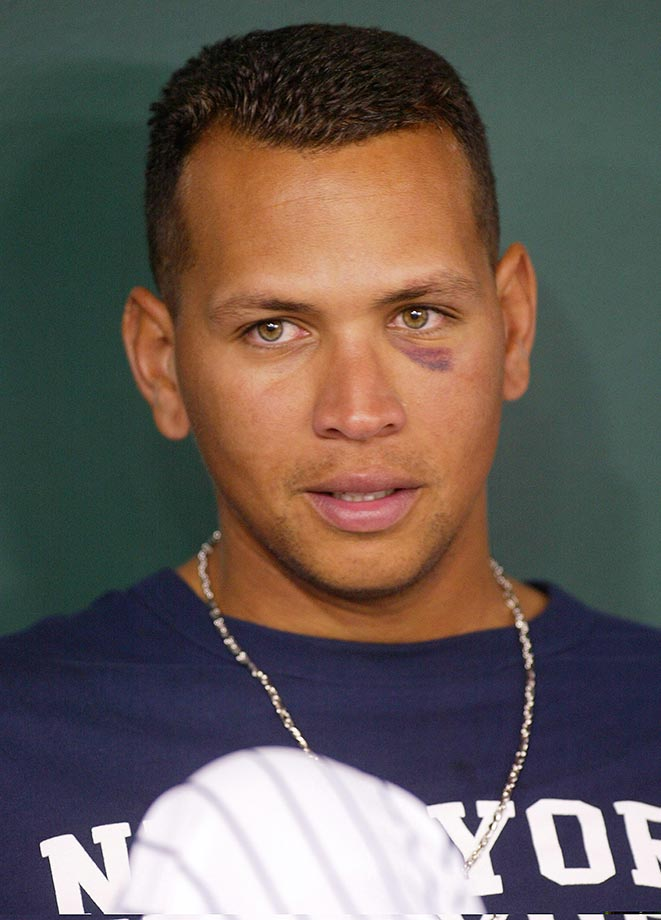 Alex Rodriguez in March 2004 during a Yankees workout at the Tokyo Dome.