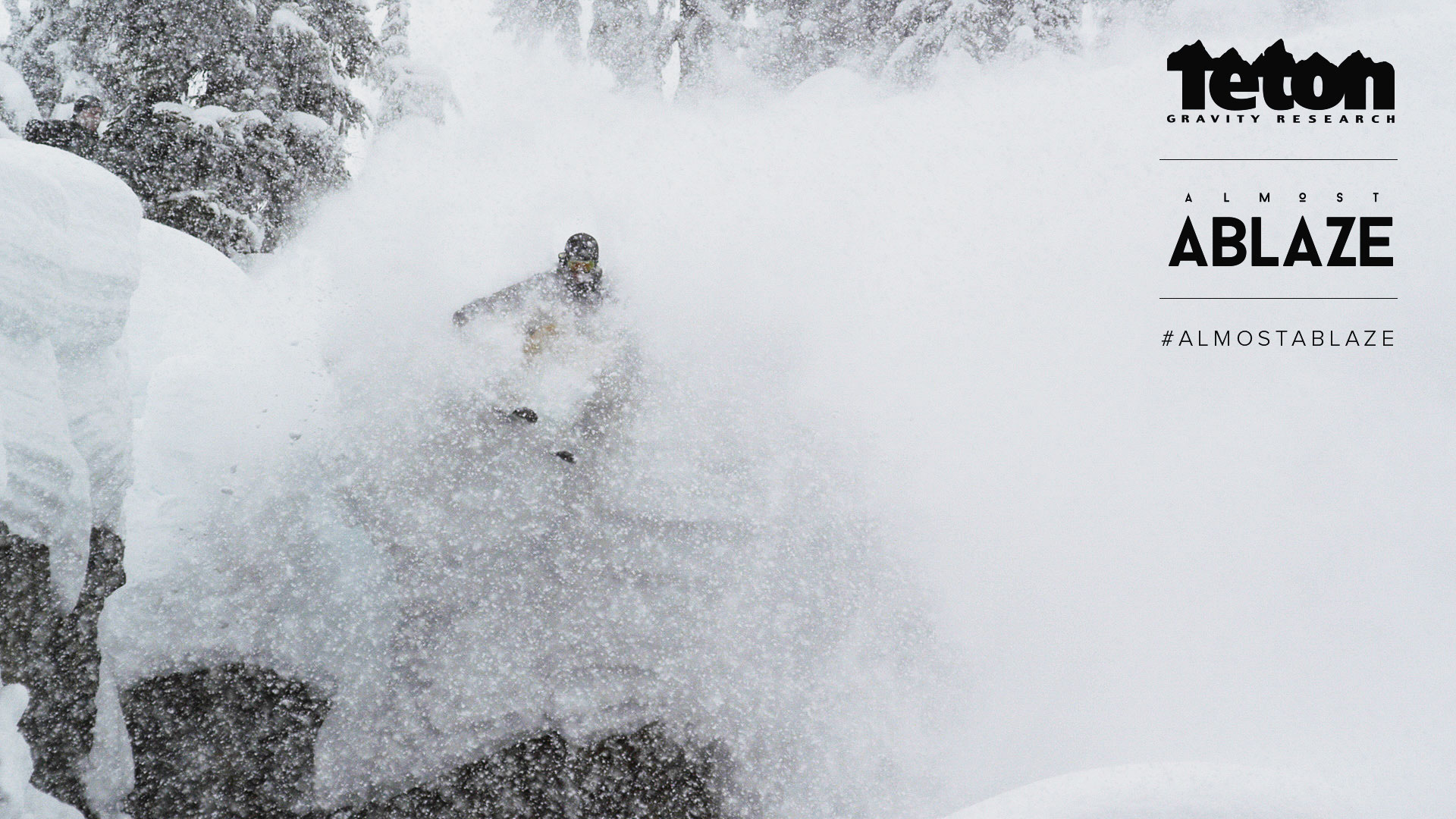 Blowing through powder in Jackson Hole, Wyoming.
