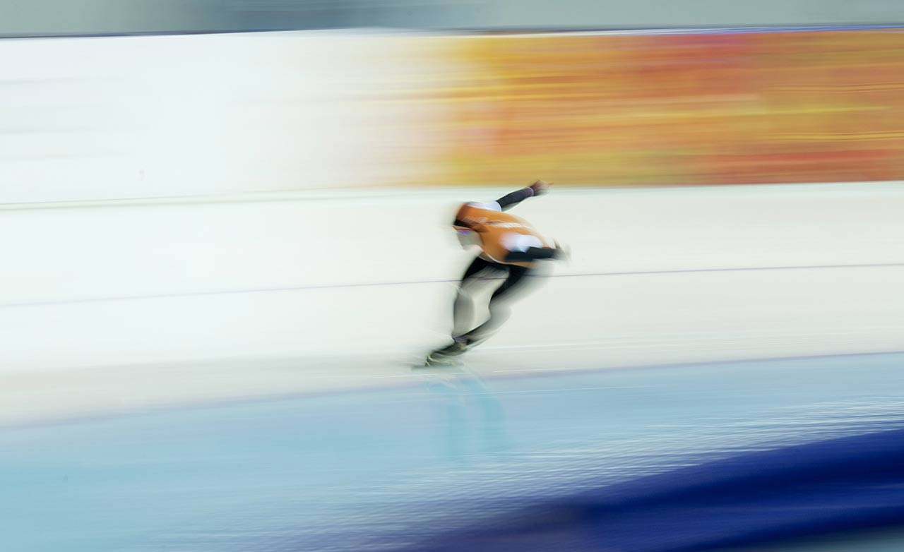 Ireen Wust of the Netherlands blazes her way to a silver medal in speed skating.