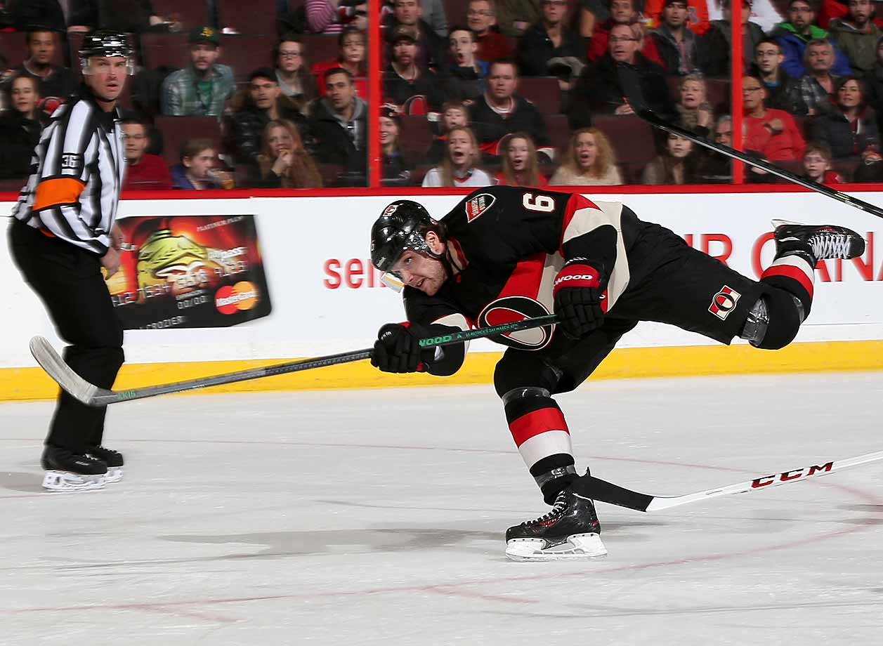 Much was expected of Ryan after he was acquired in a trade from Anaheim in July 2013, but his first season in Ottawa (23 goals, 48 points) was underwhelming, his mediocre output made more glaring by the absence of longtime stalwart Danel Alfredsson and the team's failure to reach the playoffs. Now that captain Jason Spezza has departed for Dallas via trade, Ryan has been given a new seven-year, $50.25 million deal to be the centerpiece of the Sens' offense. He's said he wants a bigger role. Here it is. We foresee 30-plus goals and a return to the form (he had four consecutive such campaigns with the Ducks) even if his linemates aren't the caliber of Ryan Getzlaf and Corey Perry.