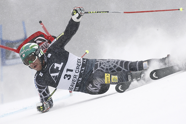 Bode Miller during the Audi FIS Alpine Ski World Cup Men's Giant Slalom on December 6, 2009 in Beaver Creek, Colorado.