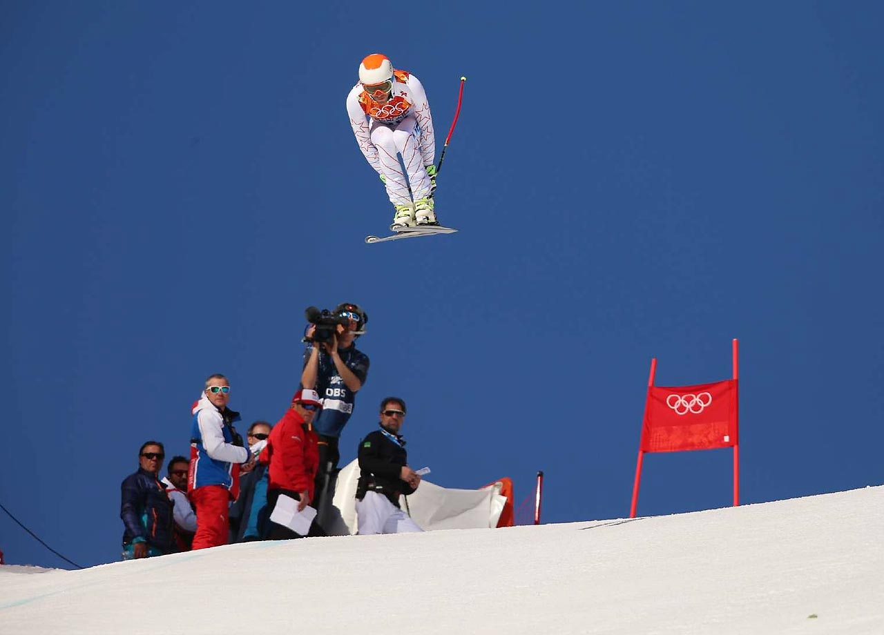 Bode Miller failed to medal in the Super Combined Downhill, winding up sixth.