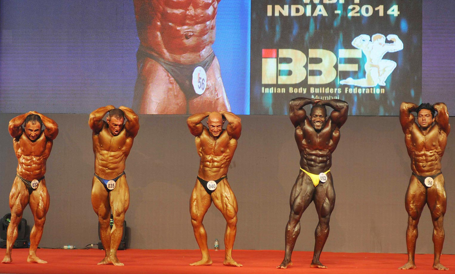 Only one place to pin those numbers at the 6th World Body Building and Physique Sports Championship in Mumbai, India.