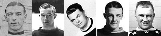 Billy Boucher, Francis Cain, Frank Finnigan, Reg Noble, Charlie Langlois