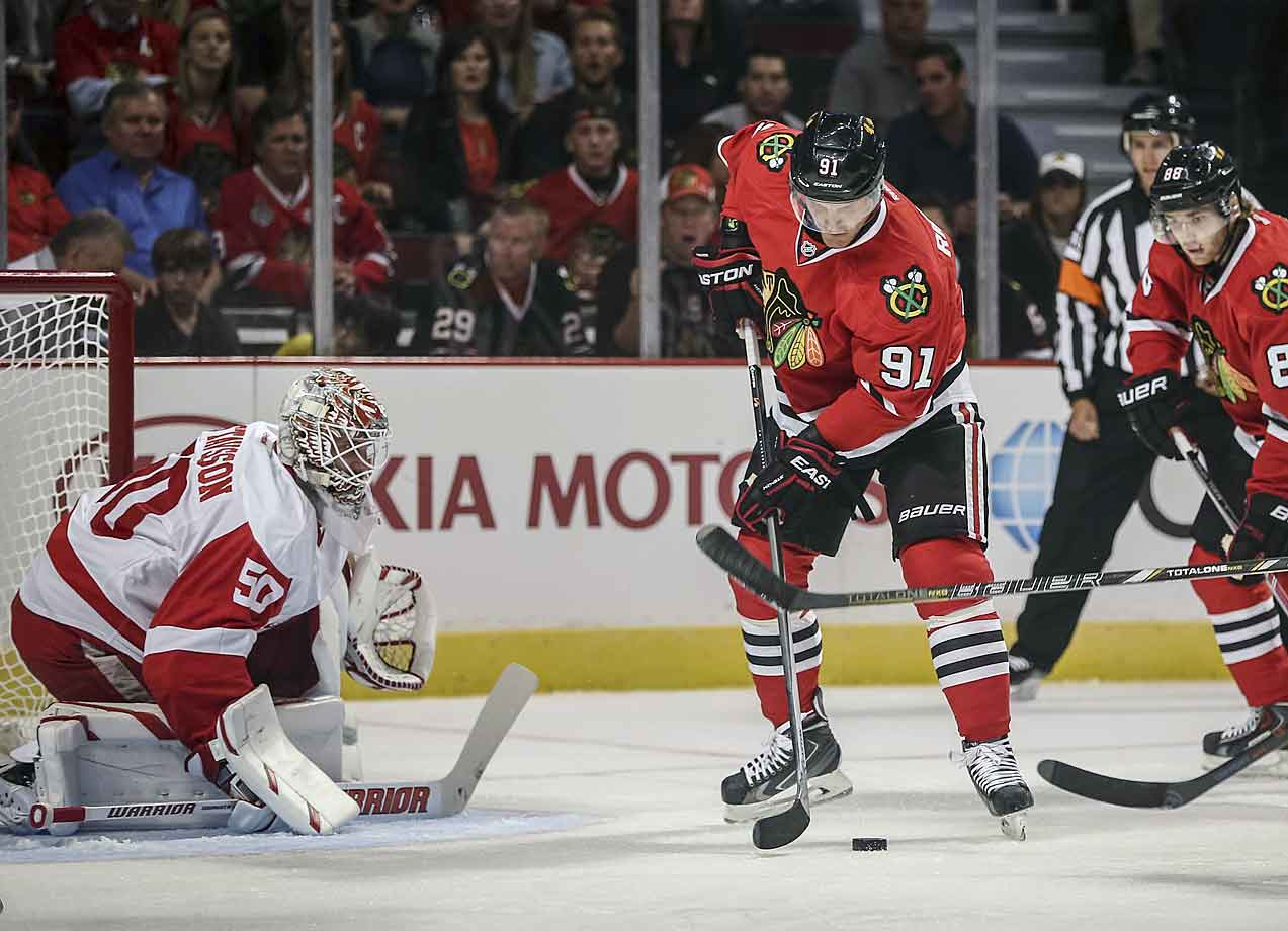 Bought out by the Rangers, the 34-year-old center signed this summer with the Blackhawks, who were in need of an upgrade in the middle of their second line. Richards gives them just that. Though he's lost a ton of speed since his prime, his game-breaking abilities are still there. And with so much more offensive support in Chicago than in New York, Richards, playing with Patrick Kane or Marian Hossa, could improve on last season's 51 points.