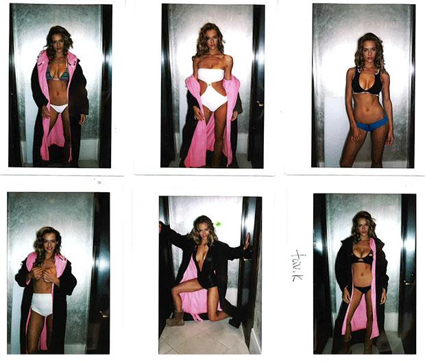 Polaroids from Hannah's Summer of Swim photo shoot