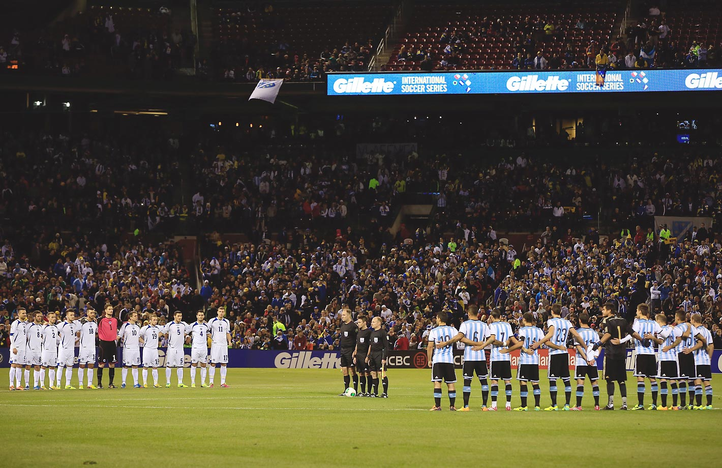 Argentina played Bosnia-Herzegovina during the international friendly match at Busch Stadium on November 18, 2013.