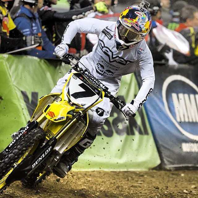 James Stewart Jr., also known as Bubba, began riding motocross professionally at the age of 16, but has literally grown up on a bike. Stewart was named AMA Rookie of the Year in 2002 and since then has racked up almost 100 wins. For a look into the wild world of motocross check out Stewart's Instagram @therealjs7​.