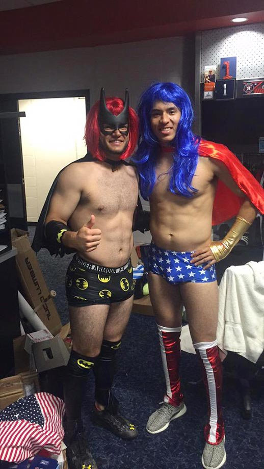 Astros rookies Carlos Correa and Lance McCullers got a little dressed up.