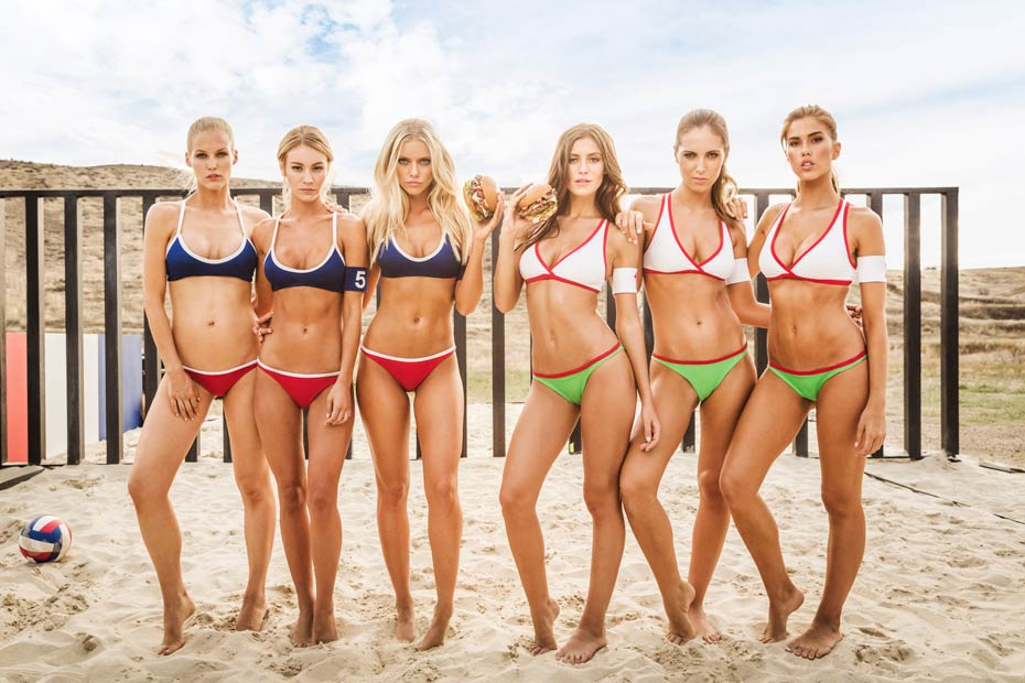 Alejandra Guilmant, Elle Evans and others :: Courtesy of Carl's Jr.