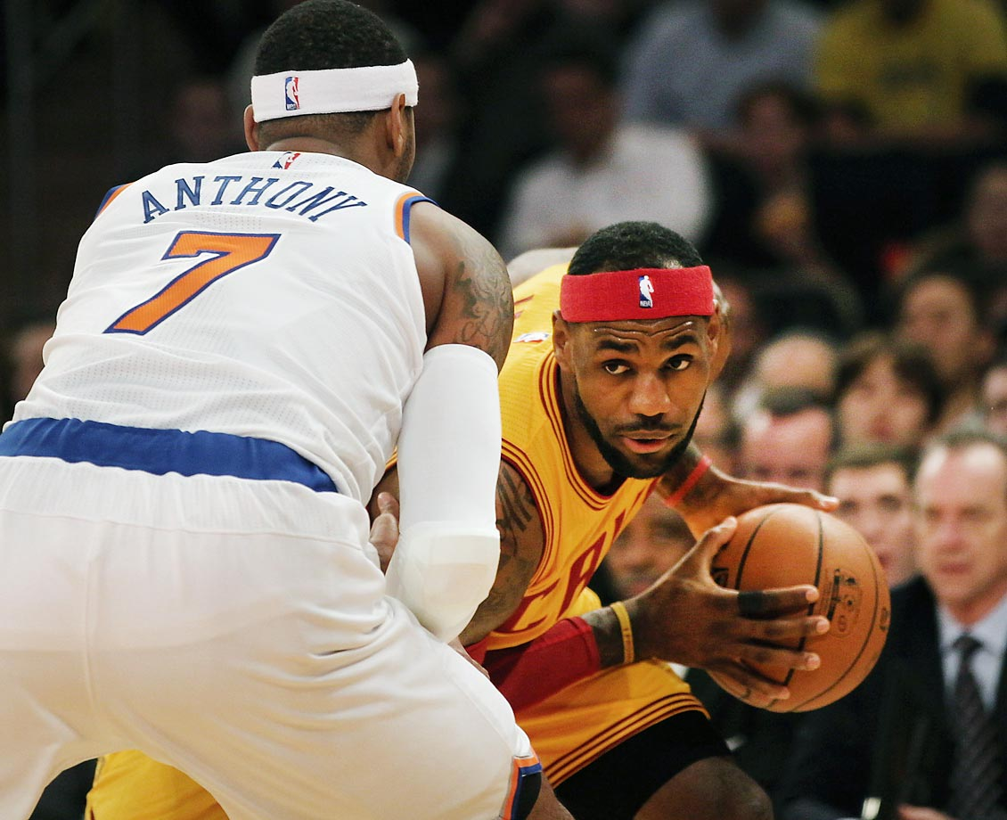 Carmelo Anthony and the Knicks didn't have much success against LeBron James and the Cavs.