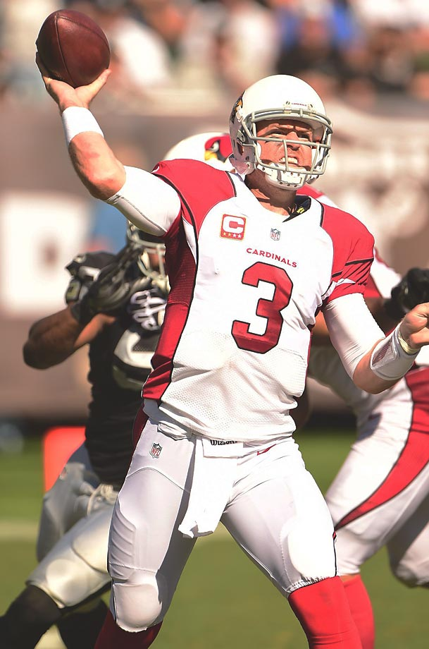 Carson Palmer has started over twice after at least a 2,500-yard season. Trying to escape a team that had only two winning records in the previous 20 seasons, Palmer requested a trade from Cincinnati on the back of a 3,970-yard and 26-touchdown 2010 season. He had to wait, but eventually got his wish in a move to the Raiders, where he threw for 6,771 yards and 35 touchdowns in two playoff-less seasons. The Cardinals traded for him in April 2013 and have been happy with the results.