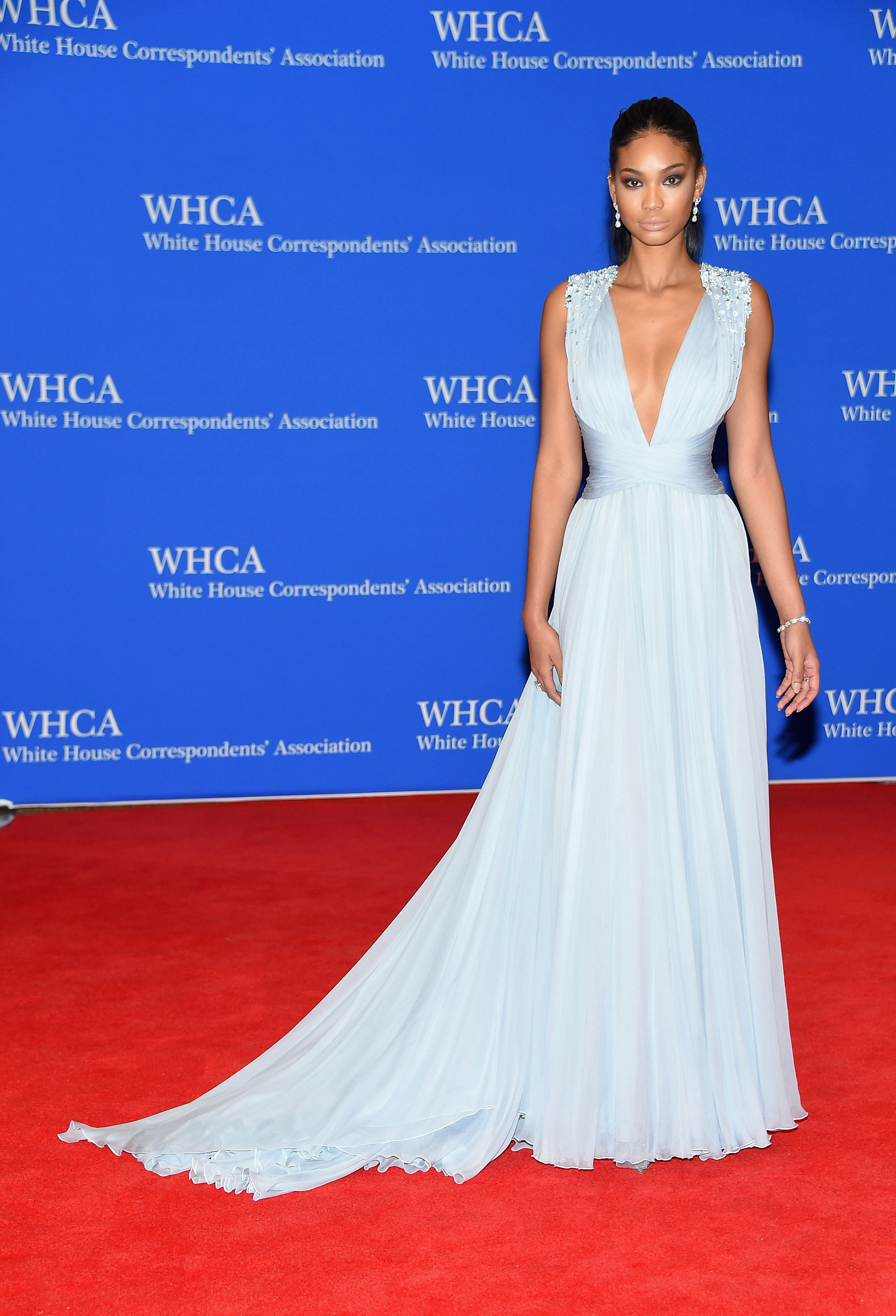 Chanel Iman attends the 101st Annual White House Correspondents' Association Dinner.