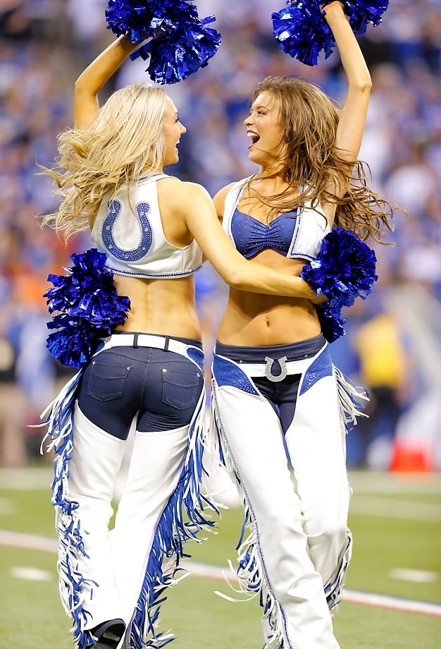 Indianapolis Colts cheerleaders at the Bengals game.
