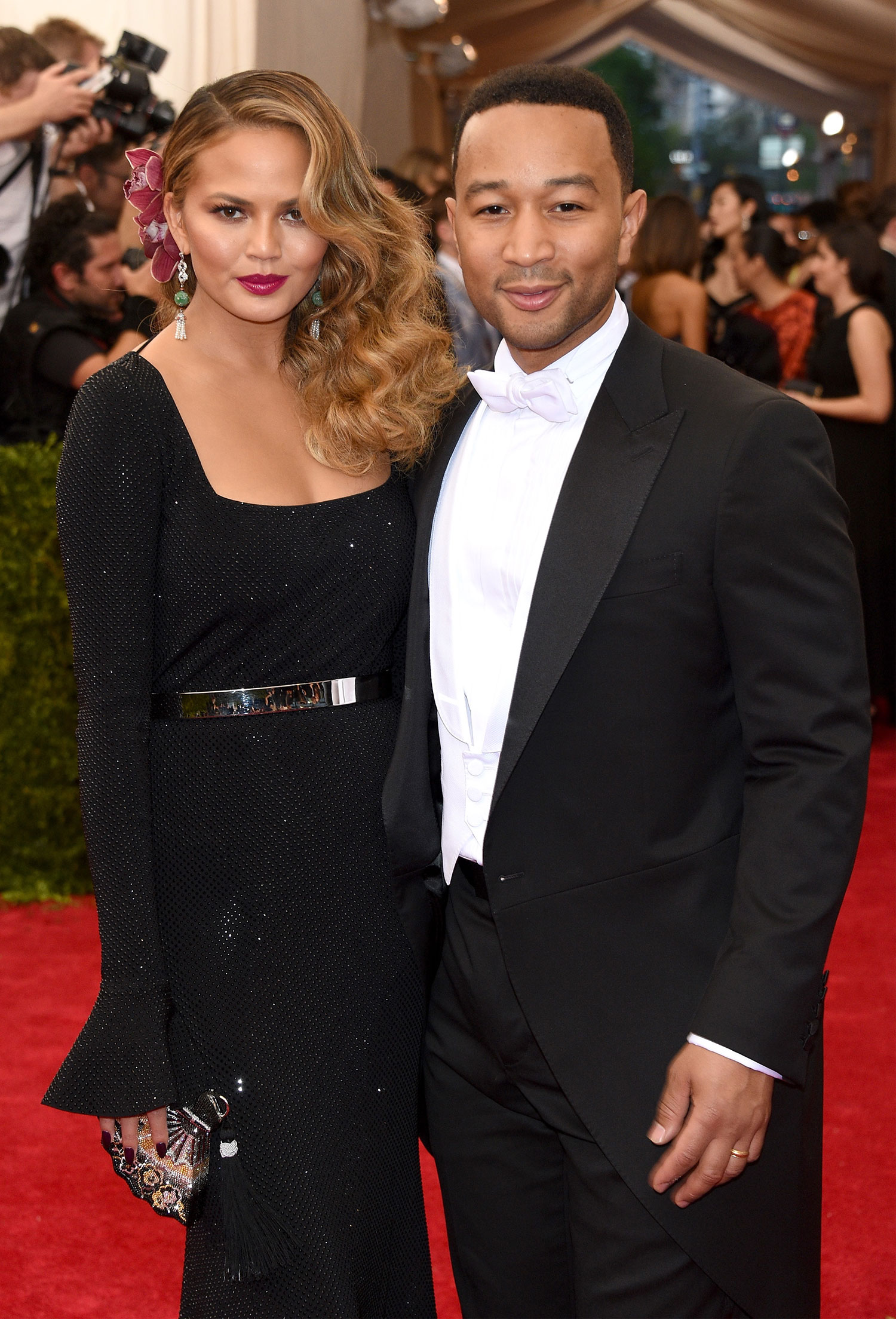 Chrissy Teigen and John Legend attend the 'China: Through The Looking Glass' Costume Institute Benefit Gala at the Metropolitan Museum of Art.
