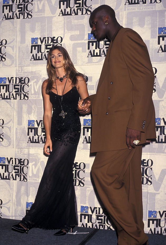 Cindy Crawford and Shaquille O'Neal :: Getty Images