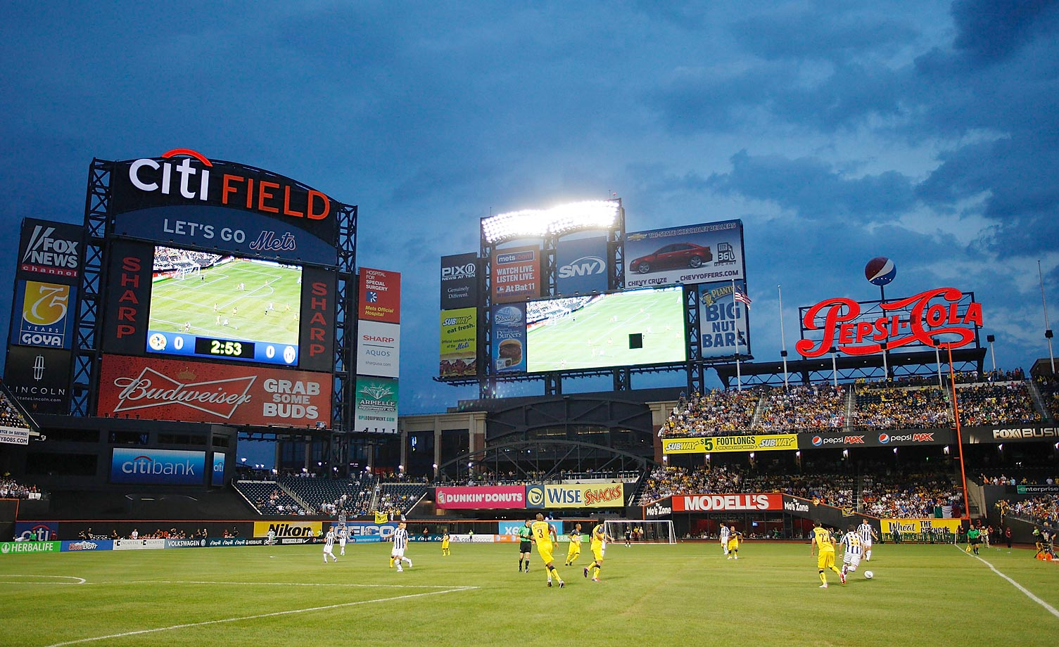 Juventus FC played Club America at Citi Field on July 26, 2011.