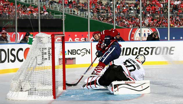 Eric Fehr opened the scoring by beating Chicago's Corey Crawford at 7:01 of the first period.