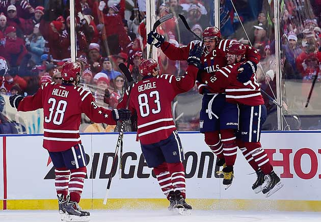 Capitals captain Alex Ovechkin put his team up 2-0 at 11:58 of the first.