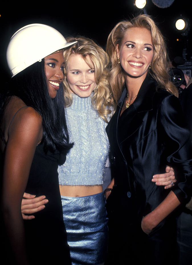 Claudia Schiffer, Elle Macpherson and Naomi Campbell :: Getty Images