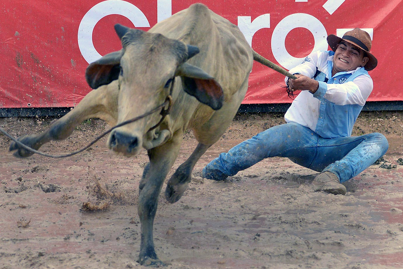 A Colombian cowboy during the 18th Coleo World Championship in Villavicencio.