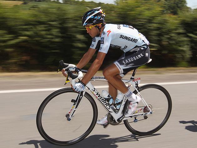 Alberto Contador of Spain and team Saxo Bank Sungard
