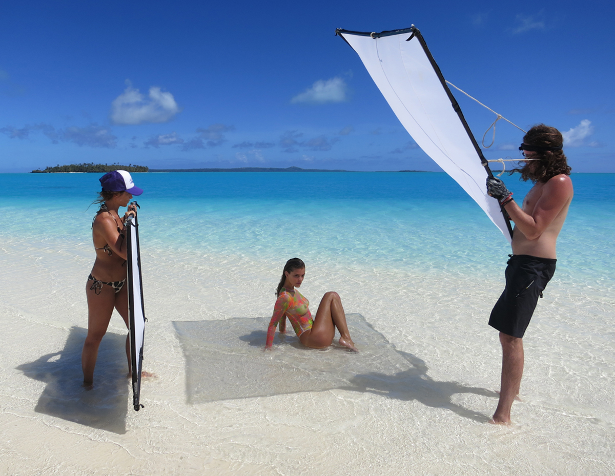 Behind the scenes in the Cook Islands with Nina Agdal, SI Swimsuit 2014