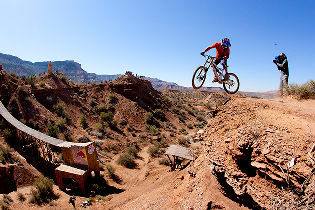Darren Berrecloth rides during Red Bull Rampage in Virgin, Utah.