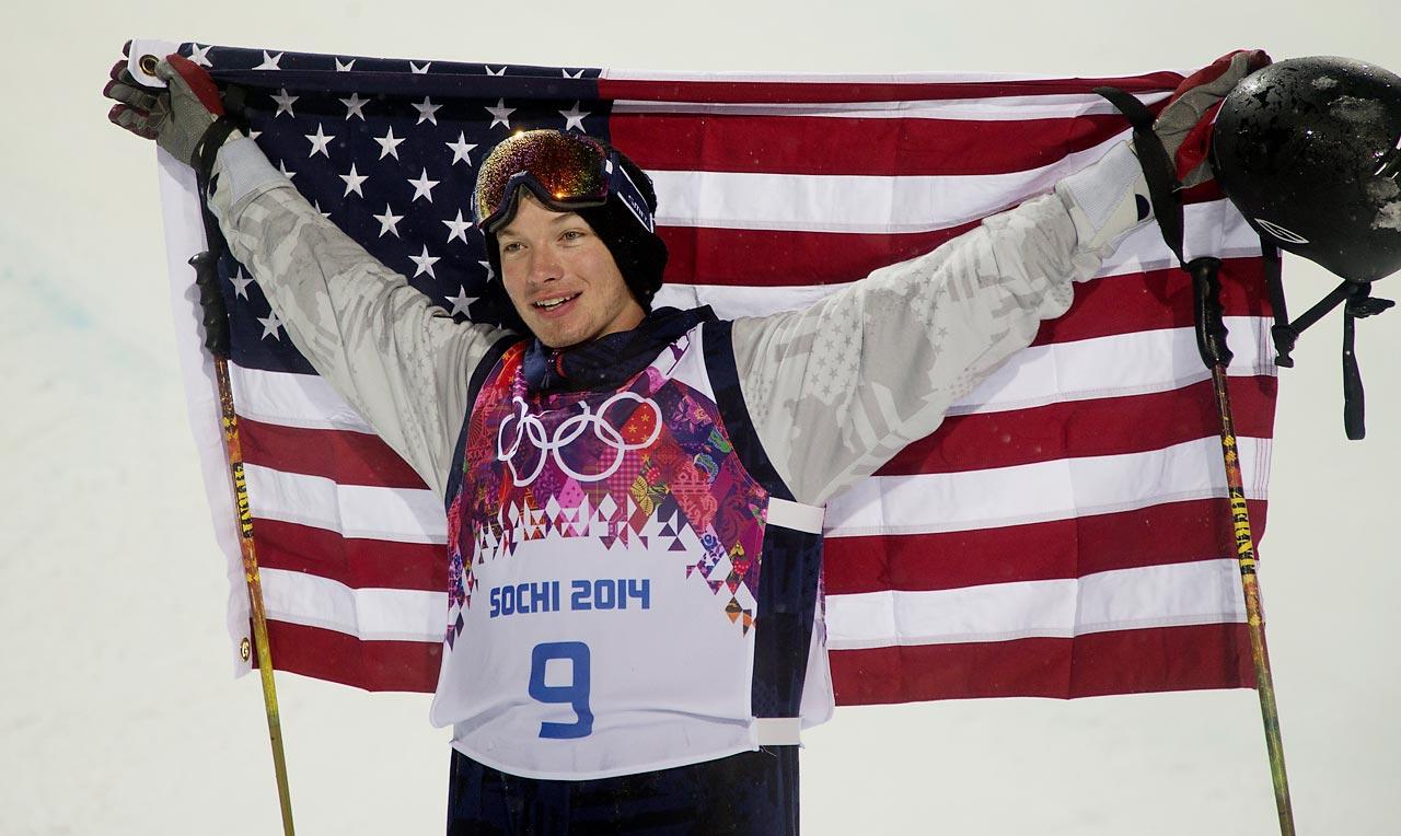 David Wise of the U.S. wins gold in the Ski Halfpipe.