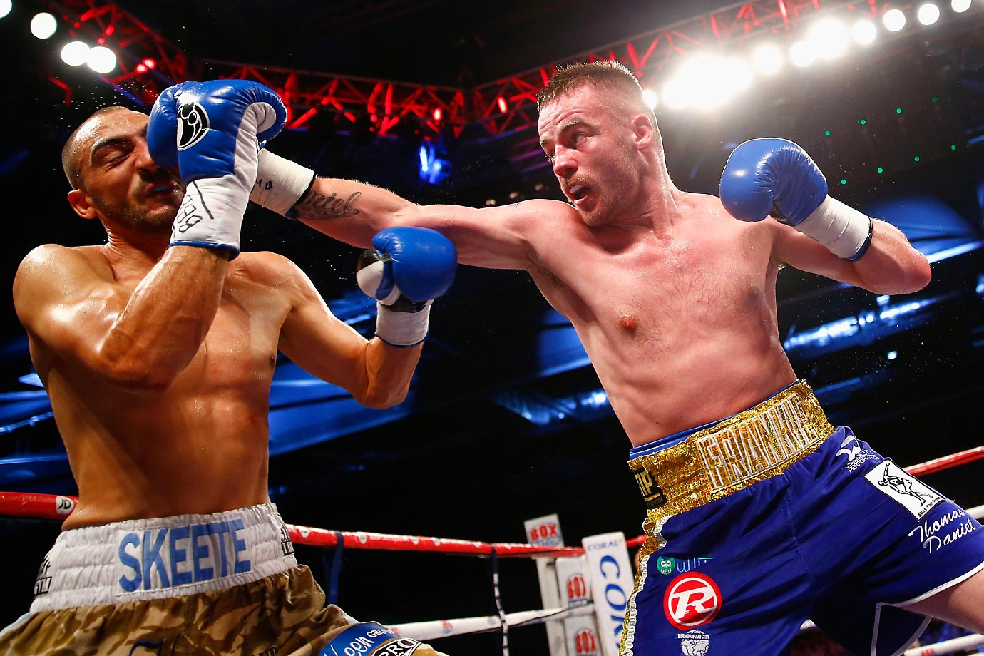 Frankie Gavin fights Bradley Skeete in the British and Commonwealth Welterweight Championships.