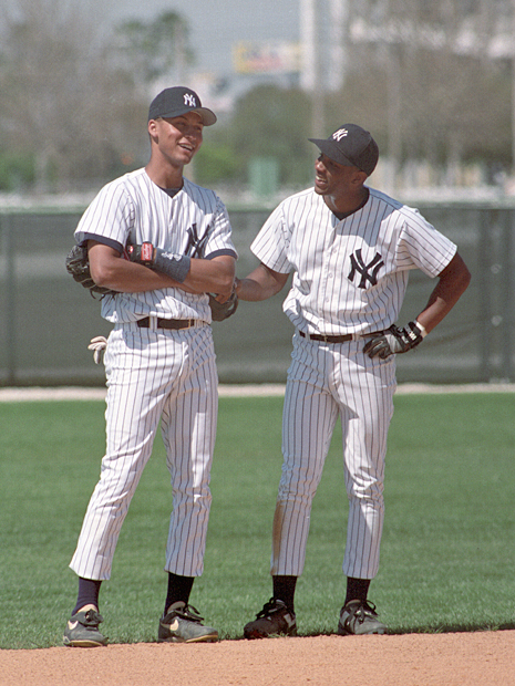 Derek Jeter and Carlton Fleming :: Getty Images