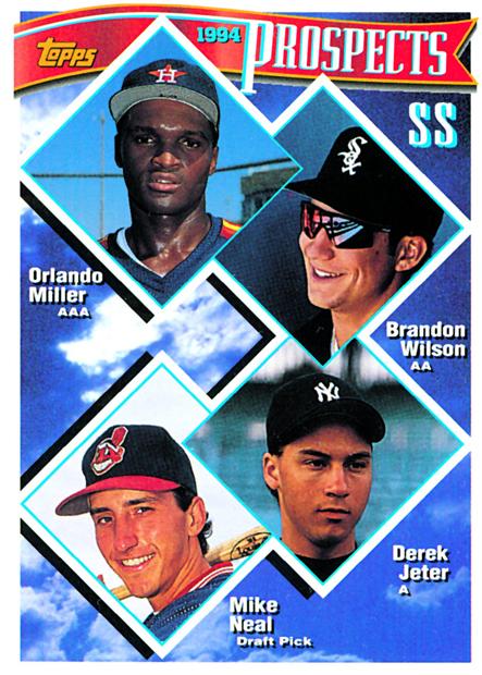 Derek Jeter Topps Baseball card