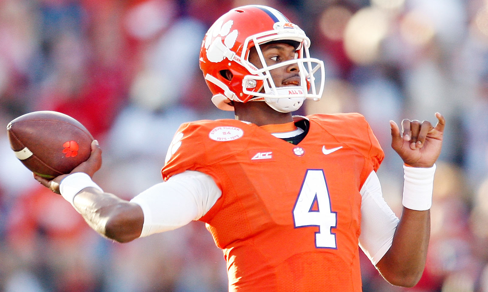 Watson missed five games last season due to injuries, including Clemson's Russell Athletic Bowl victory while he recovered from a torn ACL. Watson is said to be ahead of schedule in his rehab and should build on a true freshman season in which he threw for over 1,400 yards in eight games.