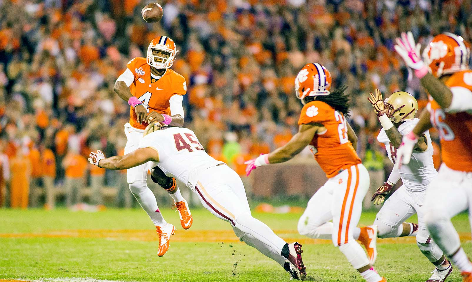 Clemson 34, Boston College 17: Deshaun Watson singlehandedly took care of the Eagles with 420 yards passing and four total touchdowns.