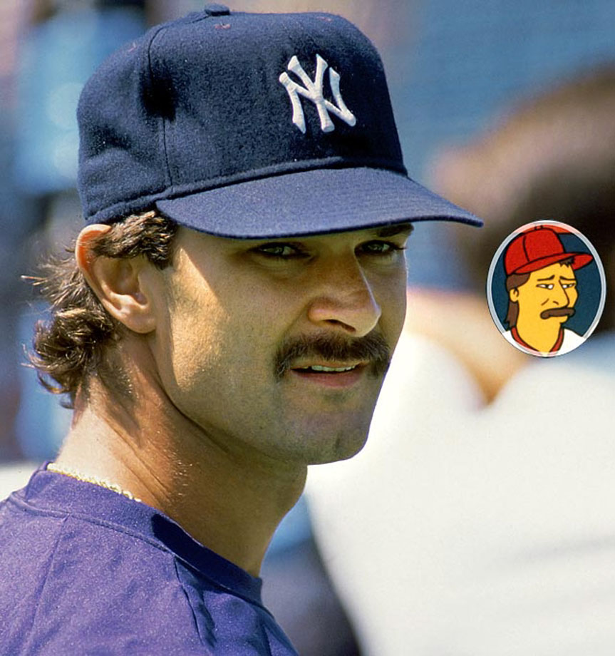 Memorable Moment — After being told repeately by Mr. Burns to trim his non-existent sideburns, Mattingly arrives with the sides and top of his head completely shaved off. Mr. Burns: ''Mattingly! I thought I told you to trim those sideburns! Go home! You're off the team! For good!'' Mattingly: ''Fine.'' Mattingly walks away. Mattingly [to himself]: ''I still like him better than Steinbrenner.''