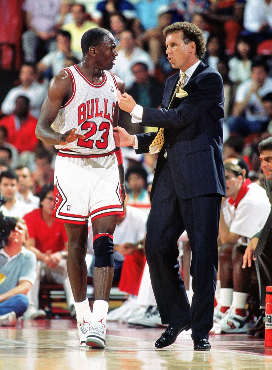 Doug Collins and Michael Jordan (1987) :: John Biever/SI
